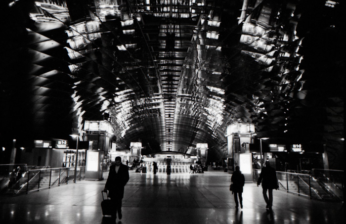 station hall in transit   by bertram rusch